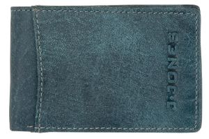 Kleine Lederbörse J. Jones Portemonnaie RFID Schutz mini Portemonee Jeans Blue