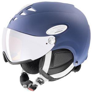 UVEX hlmt 300 visor Skihelm mit Visier, Größe:57-59 cm, Farbe:blau