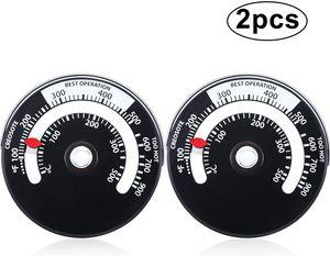 Magnetisch Holz Ofen Thermometer Feuer Ofen Rohr Thermometer Rauchrohr Temperatur Meter zur Vermeidung Ofen Ventilator Durch Überhitzung Beschädigt (2)