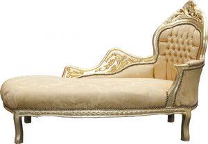Casa Padrino Barock Chaiselongue Mod2  Gold Muster/Gold - Barock Möbel