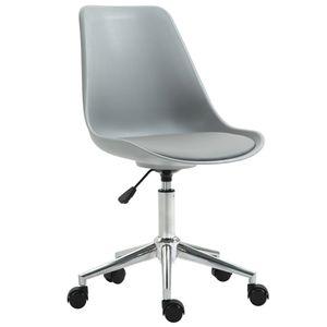SVITA EDDY Schreibtischstuhl für Kinder Drehstuhl Kinderschreibtischstuhl Grau