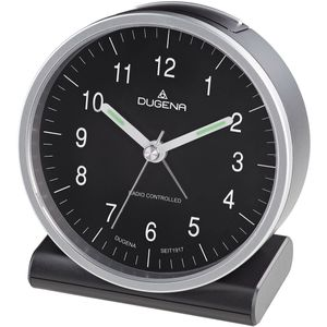 Dugena 4460944 Funk-Wecker Silber / Schwarz