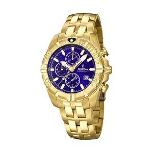 Festina F20356/3 Chronograph Uhr Herrenuhr Edelstahl Chrono Datum Gold