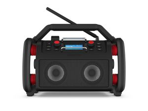 PerfectPro Baustellenradio Rockpro, UKW, DAB+, WiFi internet, Bluetooth, USB, AUX-Eingang, Netzstrom und Akku, Wiederaufladbar, IP65, RP1