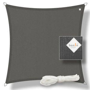 hanSe® Marken Sonnensegel HDPE Quadrat 2x2m Graphit UV-Schutz Sonnenschutz Schattenspender