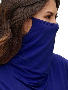 Damen Pullover Rollkragenpullover Damen Staubmaske T-Shirt Top,Farbe: Blau,Größe:3XL