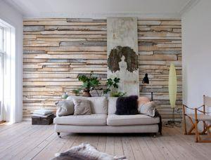 """Komar Fototapete """"Whitewashed Wood"""", braun, 368 x 254 cm"""