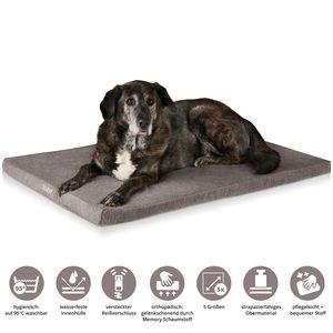 ONVAYA® Hundebett | Größe XXL | 112 x 74 x 5 cm | 95 Grad waschbar | orthopädisch | grau | wasserdicht | Hundekissen | Liegekissen | Schlafplatz | Tierbett | Ruheplatz | Hundematte | Hundematratze