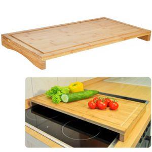2 in 1 Schneidbrett Abdeckplatte Gemüseschneider Schneidebretter Holz Schneidunterlage Küche
