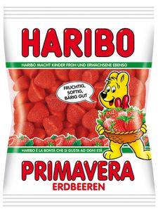 Haribo Primavera Erdbeeren gezuckerte Schaumzucker Stücke 100g