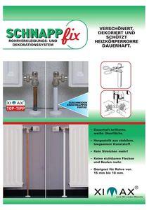SchnappFix Rohrverkleidung-Dekorationssystem weiß L 205mm 8 Stück