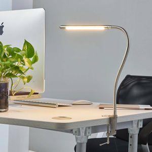 Lindby LED Klemmleuchte 'Lionard' (Modern) in Alu aus Metall u.a. für Wohnzimmer & Esszimmer (1 flammig,, inkl. Leuchtmittel) - Tischlampe, Tischleuchte, Leselampe, Nachttischlampe, Wohnzimmerlampe