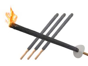 PODARI Wachsfackeln mit Handschutz Brenndauer 60min - 3 Fackeln