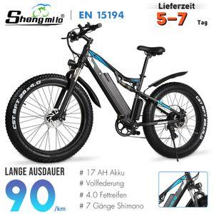 26 Zoll E-Bikes, Schnee-Fahrrad,Elektrofahrrad Fatbike Mountainbike Citybike