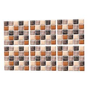 6pcs Fliesenaufkleber 20x20 cm 3D Mosaik Fliesenfolie Küche Bad Wandfliesen Aufkleber