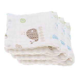 3 Stück Platz Baby Childs Taschentuch Speichel Handtuch Lätzchen 25x25xm Gaze Farbe Gaze