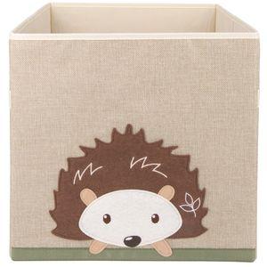 Bieco Aufbewahrungsbox Kinder | Igel Motiv ca. 36L faltbar | Süße Spielzeug Kiste für Kallax Regal | Aufbewahrungsbox 33x33x33 | Kallax Boxen für Spielzeug Aufbewahrung | Storage Box Kallax Korb
