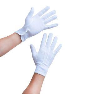 Oblique Unique Herren Handschuhe Pantomime Butler Kostüm - weiß