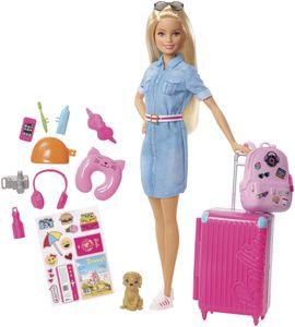 Barbie Travel Puppe (blond) und Zubehör