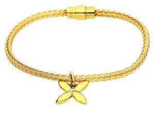 Esprit Damen Armband Edelstahl Gold Thriving Flora ESBR11450B185