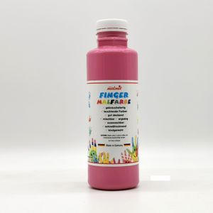 play malmit® Fingerfarben Fingermalfarben Fensterfarben Malfarben Kinderfarben Rosa 250ml