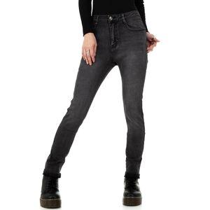 Ital-Design Damen Jeans Skinny Jeans Grau Gr.xl/42
