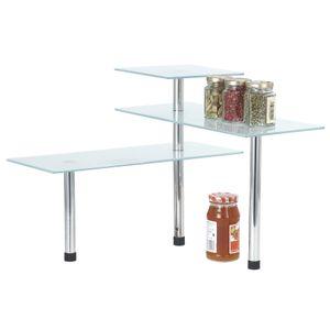 Universalglasregal Eck-Pssform Küche Kücheneinrichtung Eckregal Gewürzregal