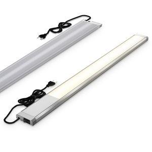B.K.Licht I 10 W LED-Unterbauleuchte I 1100 Lumen I Länge: 57,5 cm I 3.000K warmweiße Lichtfarbe I IP20 I Unterbaulampe I Küchenlampe I Werkstattlampe