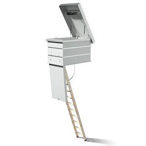 Dolle Flachdachausstieg mit Bodentreppe clickFIX® F30 3-teilig 130x70cm mit U-Wert 0,96 Konstruktionshöhe 27,5-52,5cm