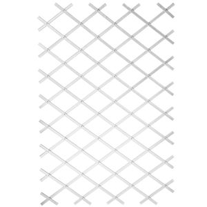 Hochwertigen Garten-Rankgitter Garten-Pflanzenstütze 100x200 cm PVC Weiß 6040703