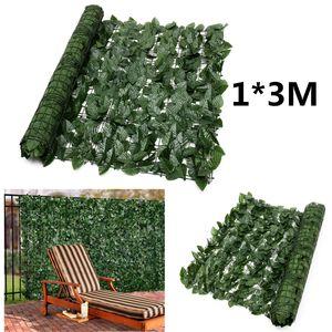 Sichtschutzhecke Windschutz 1*3M Efeu Sichtschutz Balkonverkleidung Blätterzaun