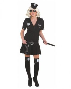 Uniform Kleid Polizistin schwarz, Gr. 36