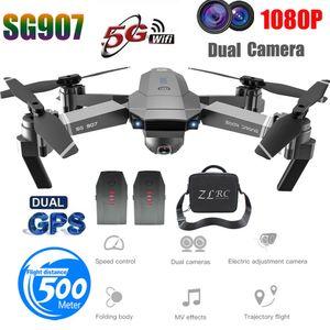 SG907 GPS-Drohne mit 1080P HD Dual-Kamera WIFI FPV RC Quadcopter Faltbare Drohne
