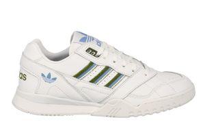 adidas Originals Damen Sneaker A.R. Trainer W Weiß / Oliv-Grün / Blau, Größe:39 1/3
