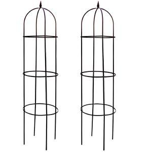2x Rankhilfe Rosenbogen 2m Spalier Kletterpflanzen-Rankgitter Obelisk Rankgerüst