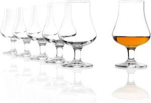 Stölzle Lausitz Whisky ( Wein Tasting Aqua )Nosing Glas 194ml 6er Set Whiskygläser spülmaschinentauglicher Tumbler 1610031