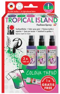 "Marabu Textilsprühfarbe ""Fashion Spray"" Set TROPICAL ISLAND"