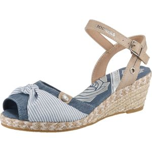 DOCKERS by Gerli Damen Sandale Keilsandalette Schuhe Navy, Größe:EUR 39