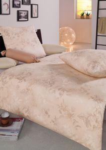 Estella Mako Interlock Jersey Bettwäsche 2 teilig Bettbezug 135 x 200 cm Kopfkissenbezug 80 x 80 cm Atelier Freda natur