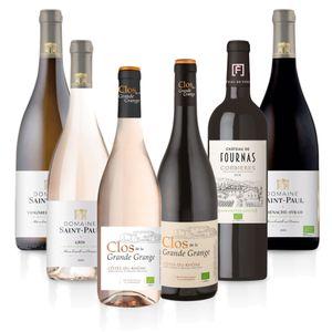 Weinpaket 'Süd-Frankreich (6 x 0,75 l) - Probierpaket mit trockenen Weißwein, Roséwein und Rotwein von französischen Winzern