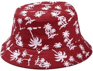 Uni Kokosnussbaum Muster Sonnenhut Bucket Hat Fischerhut Sommerhut Sonnenhuete Strandhut Schlapphut Rot