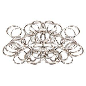 100 Stück Schlüsselringe Schlüsselring Ringe 20mm Split Key Ring