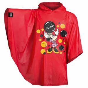 Baagl Kinder Regenponcho - Regencape mit Kapuze und reflektiven Elementen - Regenmantel für Mädchen ab 130cm (Minnie)
