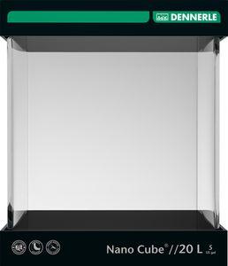 Dennerle Nano Cube 20 Liter, 25x25x30 cm - Mini Aquarium mit abgerundeter Frontscheibe