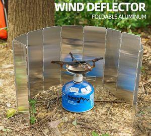 Aluminium Windschutz Campingkocher Gaskocher faltbar Outdoor Alu Falt-Windschutz