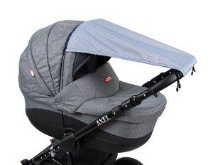 BABYLUX Sonnenschutz SONNENSEGEL für Kinderwagen Buggy UV Schutz 71. Magic Grey