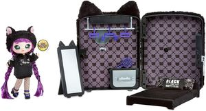 Na Na Na Surprise 3-in-1 Rucksack-Schlafzimmer Black Kitty Playset mit limitierter Auflage Tuesday Meow Doll