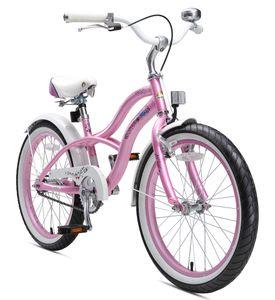 BIKESTAR Kinder Fahrrad ab 6 Jahre | 20 Zoll Cruiser Kinderrad | Pink