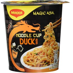 Maggi Magic Asia Noodle Cup Duck Snack mit Entengeschmack 65g