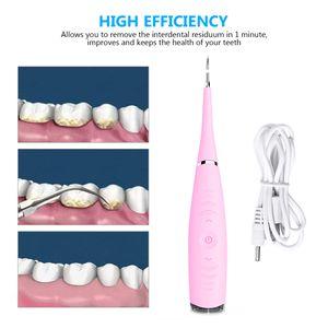 USB Zahnreiniger Zahnstein Entferner Elektrischer Ultraschall Zahnsteinentferner Rosa